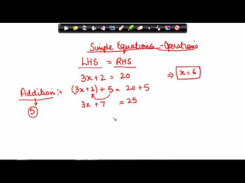 Mathematics Class VII - Simple equations Part II