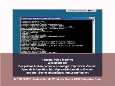 Windows Server 2008 - Instalación de Server Core