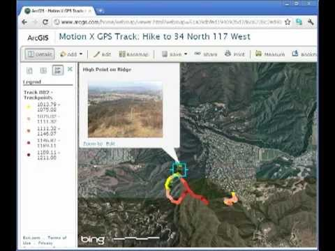 Field collection and mapping using Motion X GPS and ArcGIS Online