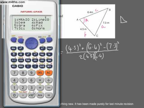 (Q37) A Star GCSE Revision Exam Style Questions trig problem sine and cosine
