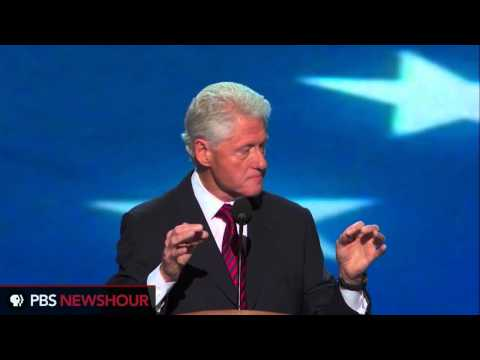 Watch President Clinton Deliver Nomination Address at the DNC