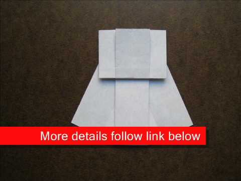 How to Fold Origami Party Dress - OrigamiInstruction.com