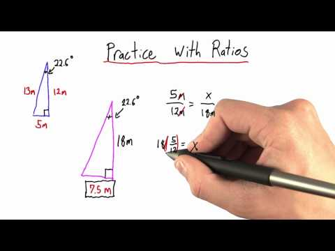 More Practice with Ratios Solution  - Intro to Physics - Circumference of Earth - Udacity