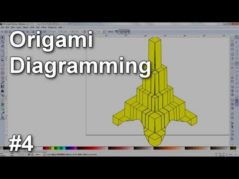 Origami Diagramming #4 - Simple 3D objects