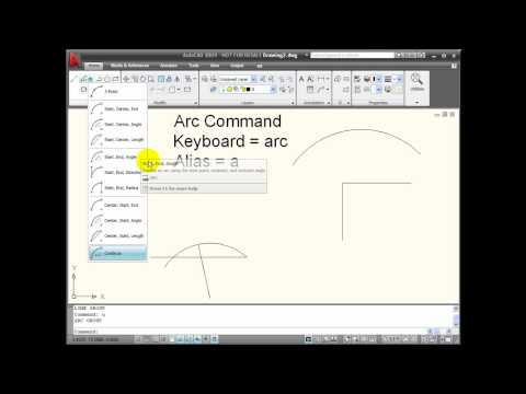 AutoCAD Tutorial - ARC Command