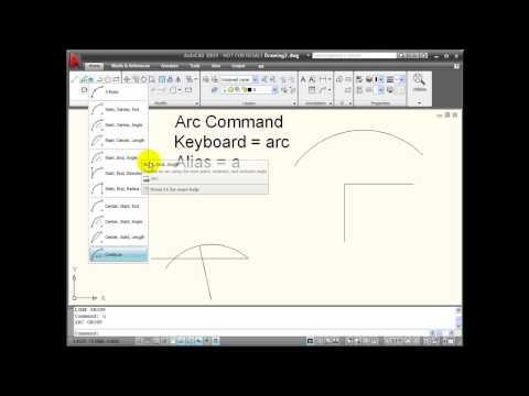 AutoCAD Tutorial - ARC Command