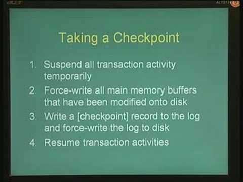 Lecture - 29 Recovery Mechanisms III