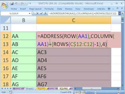 Excel Magic Trick # 279: Create the Series AA, AB, ZZ w For