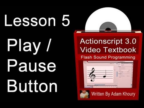 5. Actionscript 3.0 Sound Programming Video Textbook : Flash  CS4 CS5 MP3 Tutorials