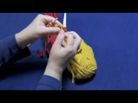 Double-Knitting, Part 1 of 3 -- Casting On and Solid Colors