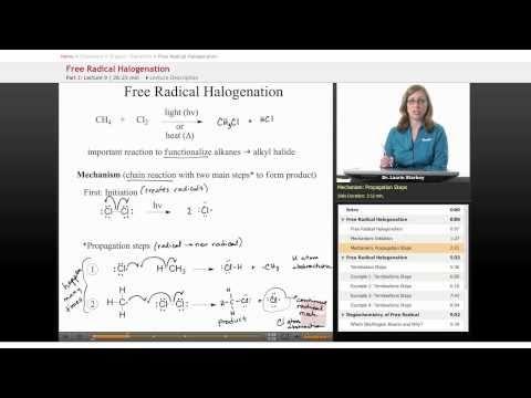 Organic Chemistry: Free Radical Halogenation