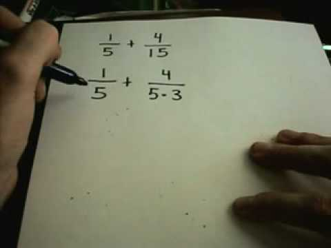 Adding and Subtracting Fractions - Numerical and Variable  Examples