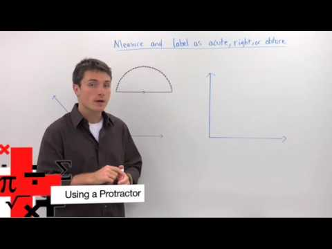 Geometry - Using a Protractor
