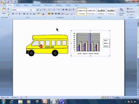 Word 2007 Tutorial 27 - Pictures, ClipArt, and Graphs Not Working Correctly