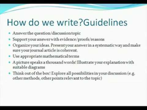 Journal Writing Lecture