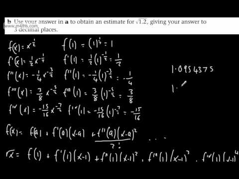 (10) FP2 Taylor Series (Building from Maclaurin and basic examples) Further Maths