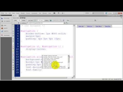 Creating CSS Navigation - a Tabbed CSS Menu