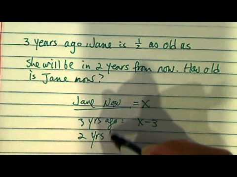 how to solve word problem (age related ones)