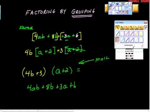 Alg I Factoring By Grouping