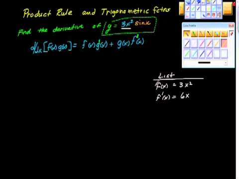 The Product Rule Two Trig fctns AP calculus