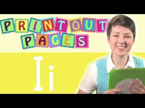 Learn to write letter I with Ms. Victoria, Learn the alphabet with Printout Pages on TinyGrads
