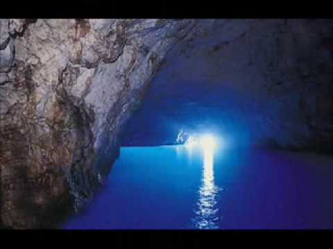 The Blue Grotto in Italy
