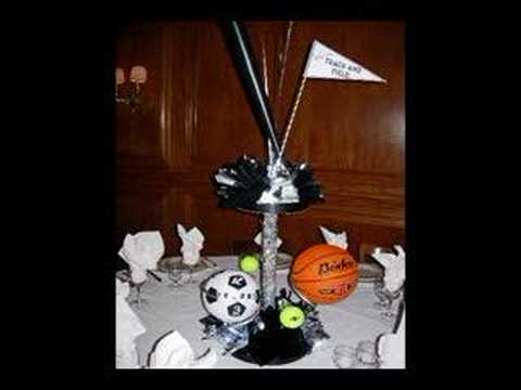 DIY (Do It Yourself) Centerpiece Ideas -- Basketball Theme C