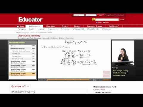 Basic Math: Distributive Property