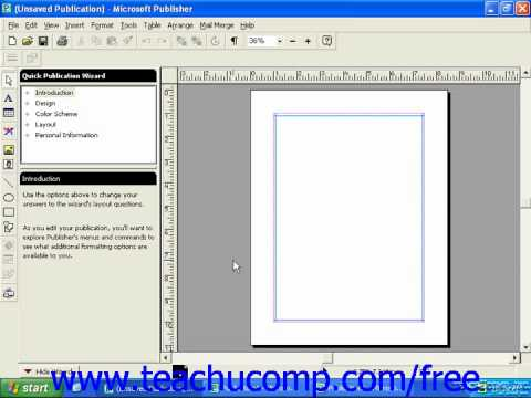 Publisher 2003 Tutorial Displaying the Full Menus 2000 Microsoft Training Lesson 1.11