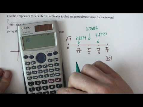 Trapezium rule Core 2 trig equation.MP4