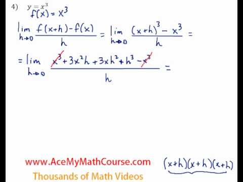 Definition of the Derivative - Question #4