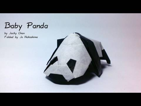 Origami Baby Panda (Jacky Chan) - not a tutorial