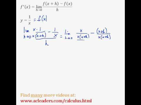Definition of the Derivative - EASY example! (pt. 5)