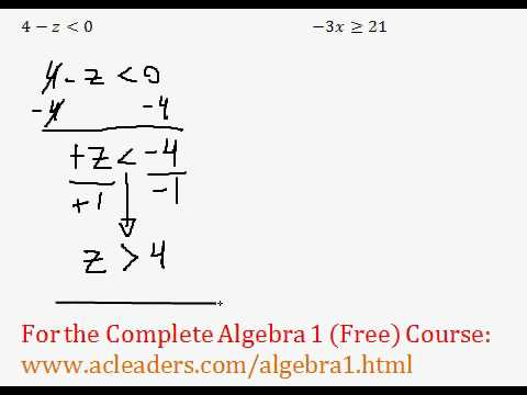 Simple Inequalities - Questions #1-2