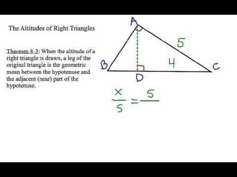 How to Solve Right Triangle Altitude Problems: Geometric Mean #5
