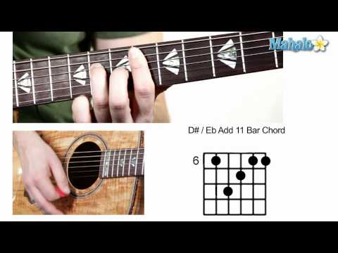 How to Play D Sharp : E Flat Add 11 Bar Chord on Guitar