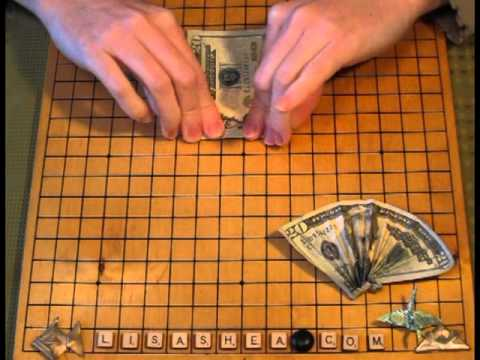 Origami Money Fan Instructions