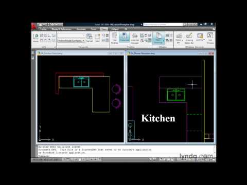 AutoCAD: Working in a multiple-document environment | lynda.com