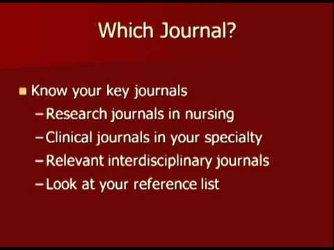 Research in Nursing & Health Writing for Publication in US Journals Podcast Part 2    How to Succeed in Publication