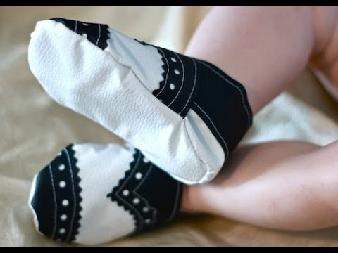 How To Sew Baby Tuxedo Shoes