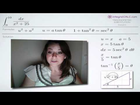 Trigonometric Substitution Example 6