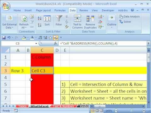 Highline Excel Class 01: Back To Basics