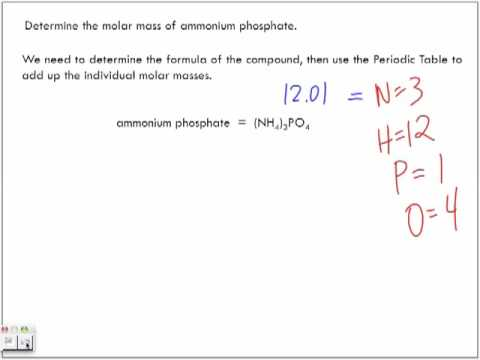 Calculating Molar Mass Sample Problems: Part 1