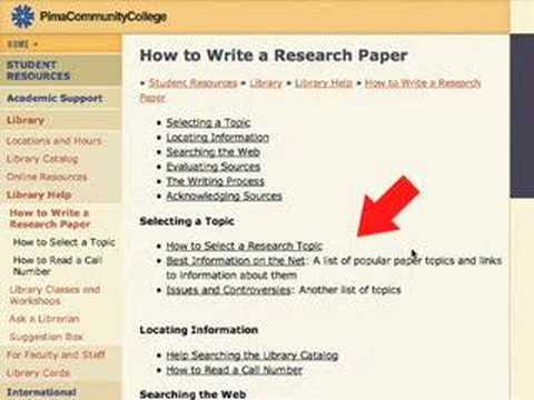 Info Literacy 2. Selecting a Topic