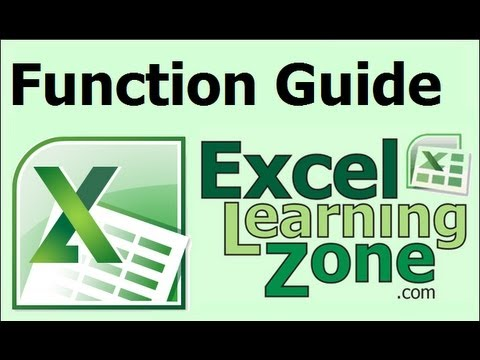 Microsoft Excel 2010 Beginner's Guide to Functions
