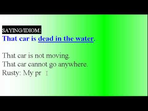 Learn English Idioms Lesson #33