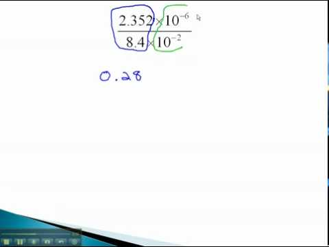 Scientific Notation - Multiply and Divide Where Answer Is Not in Scientific Notation - YouTube.mp4