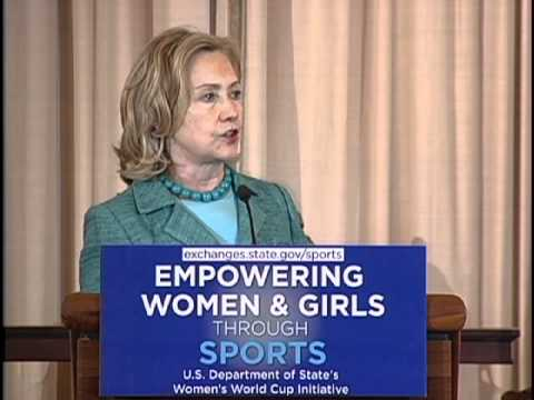Secretary Clinton on Empowering Women Through Sports