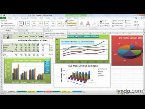 Exploring the Excel 2010 Ribbon and tabs | lynda.com overview