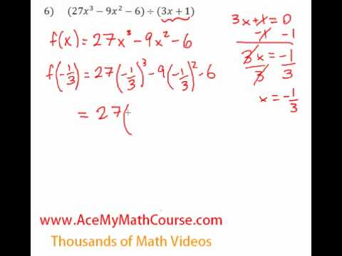 Remainder Theorem - Question #6